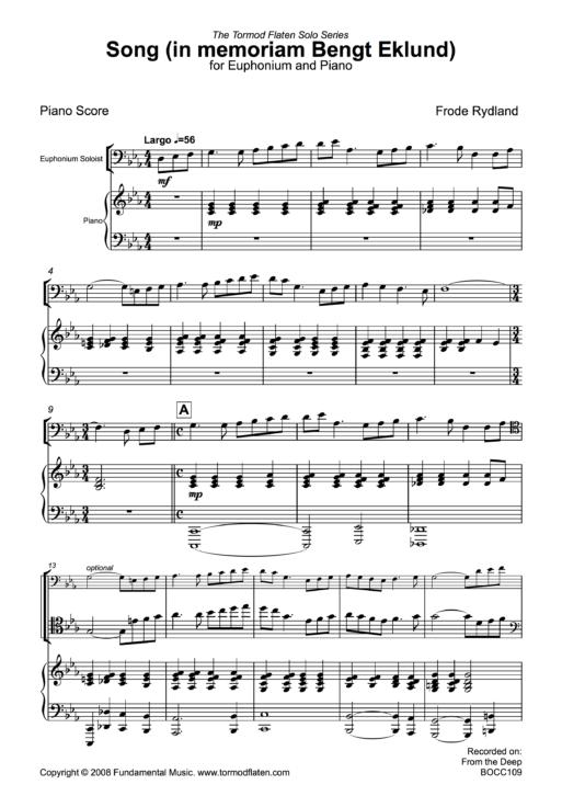 Song Piano sample
