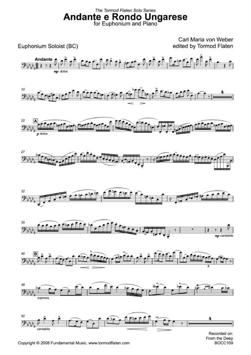 Andante e Rondo Ungarese piano sample