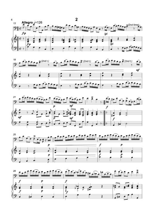 Sonata in A Minor sample2